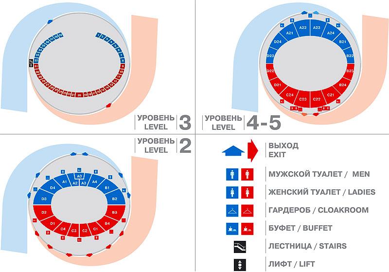 Схема арены